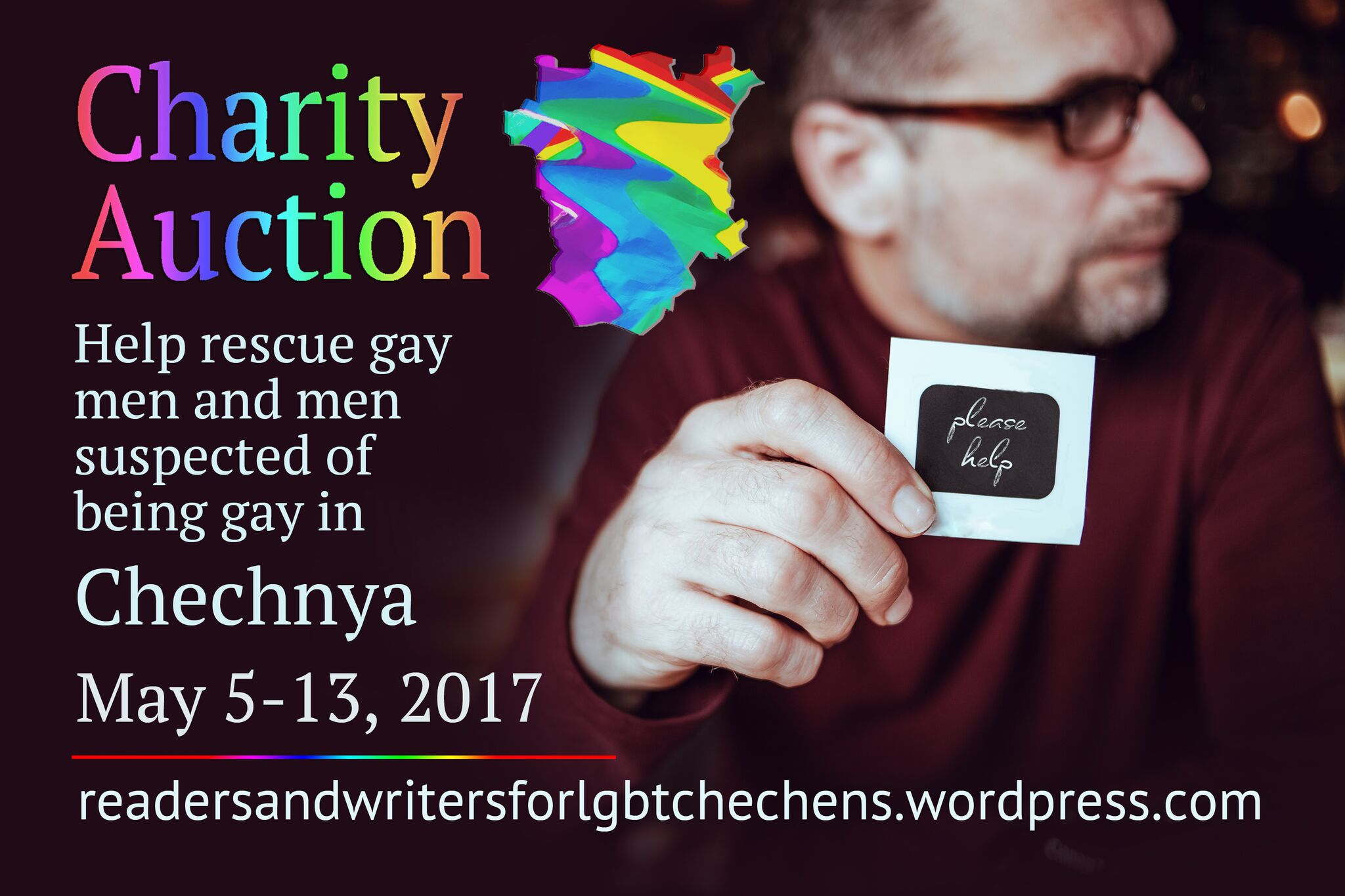 Charity auction to help rescue gay men and men suspected of being gay in Chechnya May 5 - May 13
