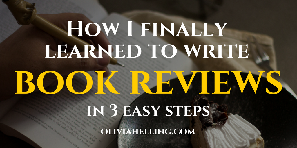 How I finally learned to write book reviews